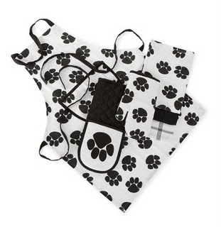 Paw Print Apron Set