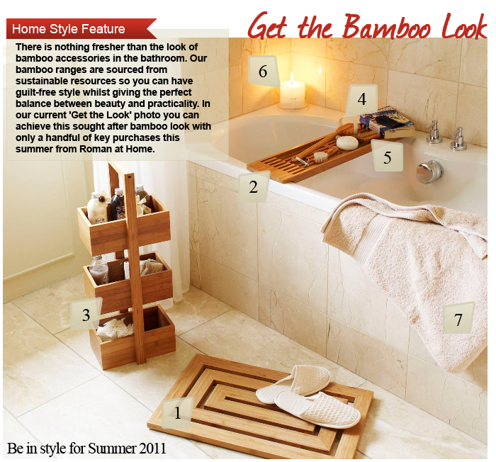 Get the Bamboo Look Bathroom