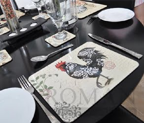 Damasks Rooster Placemats by Jason