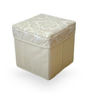 Damask Square Folding Storage Box