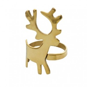 Gold Reindeer Napkin Ring