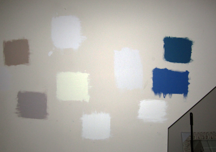 Colour Samples on the Wall