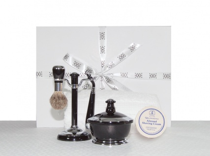 black high mens gloss shaving gift set