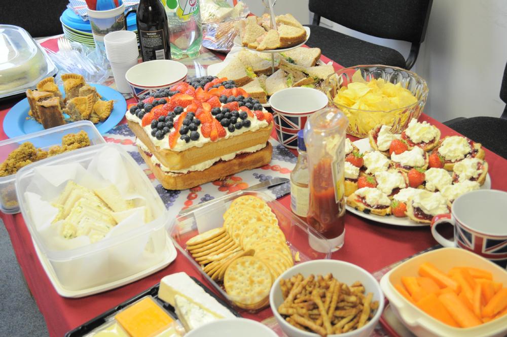 Roman Union Jack Cake & Jubilee Buffet
