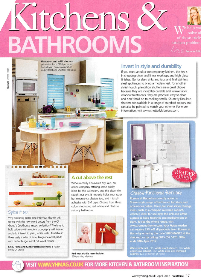 In the Press: Your Home - White Shaker Range