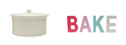 Cake Jar & Bake Letters