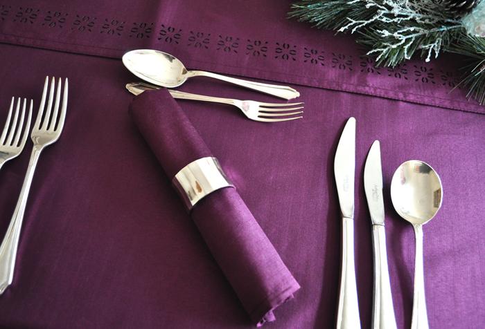 Purple Christmas Linen