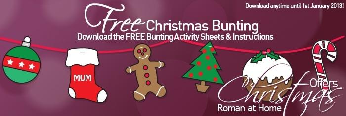 FREE Christmas Bunting