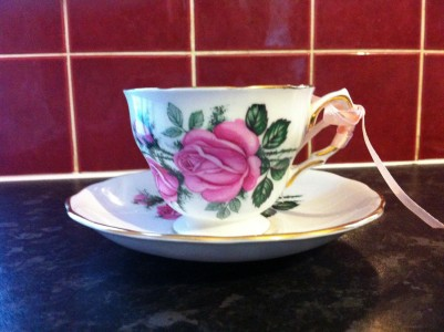 Finished Candle Tea Cup