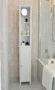 Tall White Bathroom Cabi