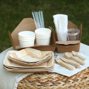 Palm leaf picnic pack