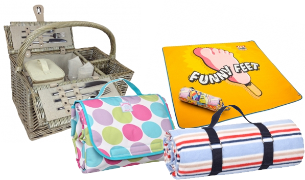 Picnic Blankets &amp; Basket