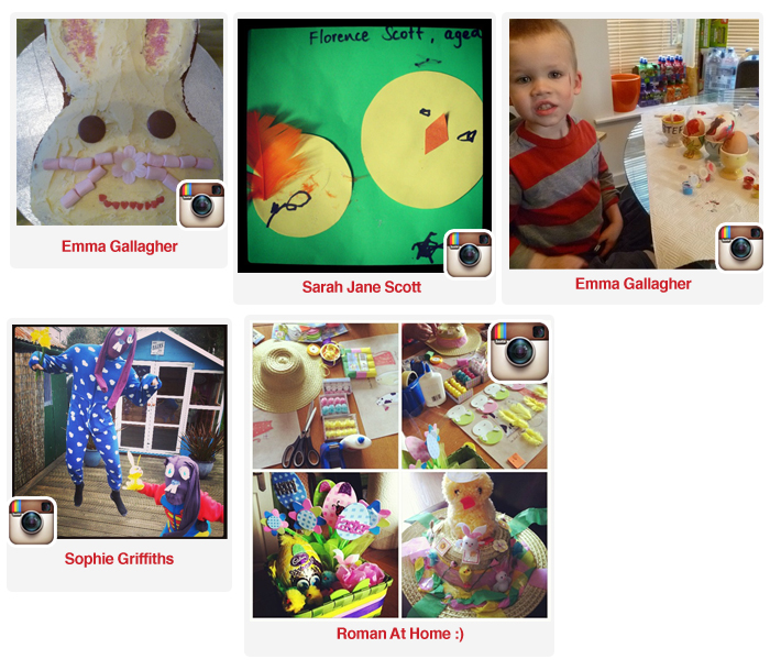 Some of our Gold Easter Instagram Entries