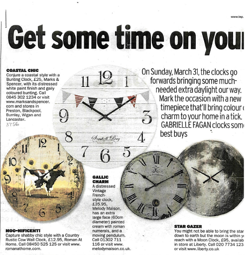In the Press: Lancashire Evening Post - Country Rustic Cow Wall Clock