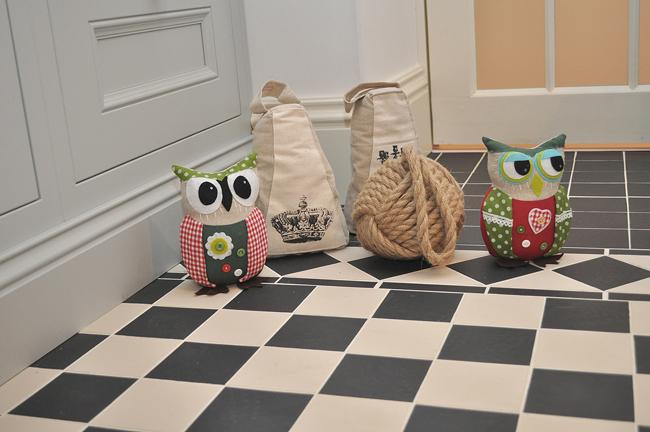Our mix of new door-stops - we love the adorable owl door stops