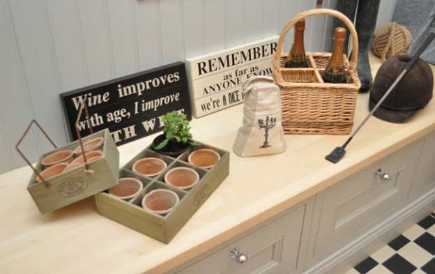 The bootroom set was ideal for showing off a range of products, from wall plaques to plant potters