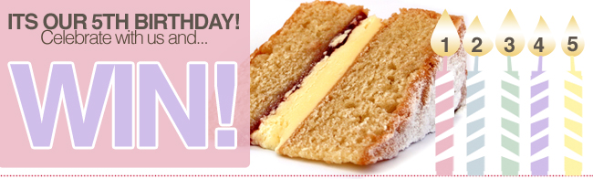 Win a Victoria Sponge Cake from Sponge for our 5th Birthday!