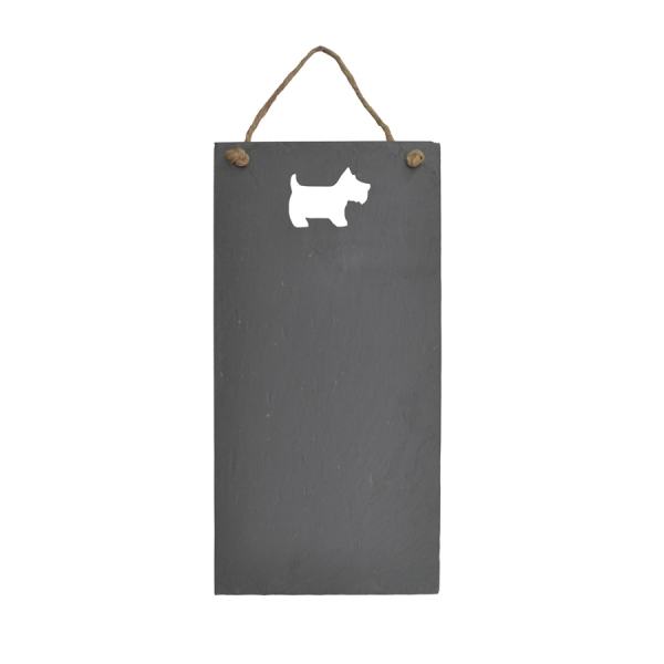 Scottie Dog Cut-out Slate Chalkboard