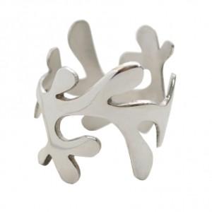Mistletoe Curved Silver Napkin Ring