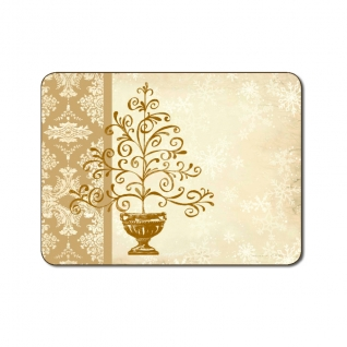 Elegant Gold Christmas Tree Placemats by Jason