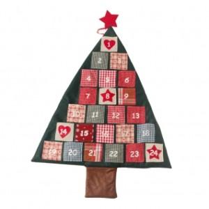 Fabric Hanging Christmas Tree Advent Calendar