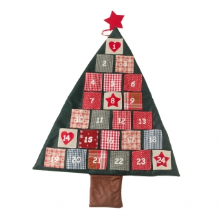 Fabric Hanging Christmas Tree Advent Calendar