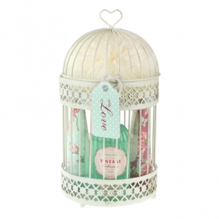 Heathcote & Ivory Vintage Rose Bird Cage & Toiletry Gift Set