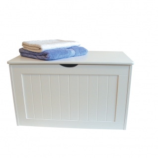 White Shaker Wooden Blanket Box 318
