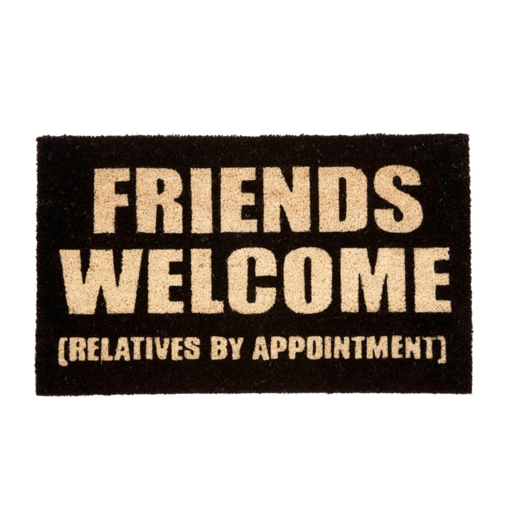 Our Friends Welcome, Relatives by Appointment Doormat