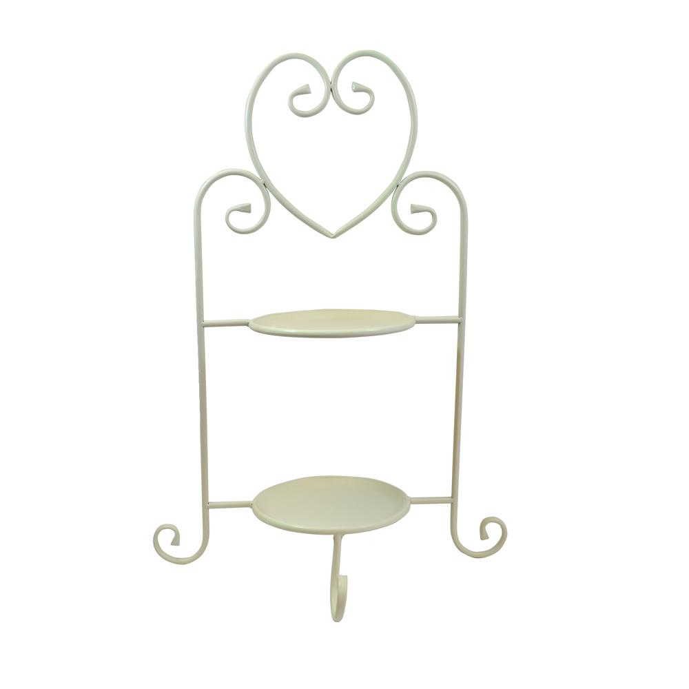 2 Tier Cream Coloured Cake Stand