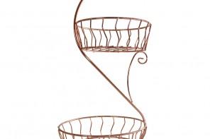 Two Tier Copper Fruit Basket £22.95