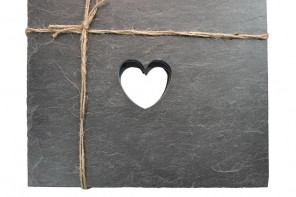 Heart Slate Placemats