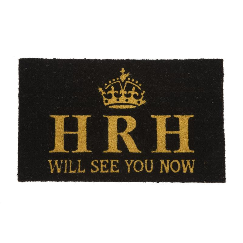 HRH Will See You Now Door Mat