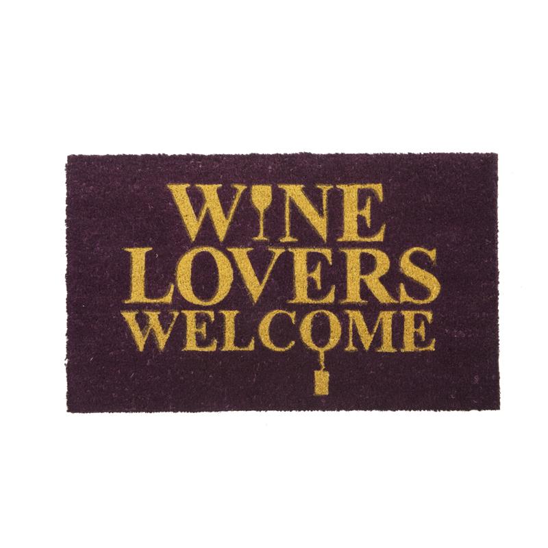 Wine Lover Welcome Door Mat