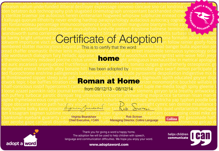Adopt a Word - Home