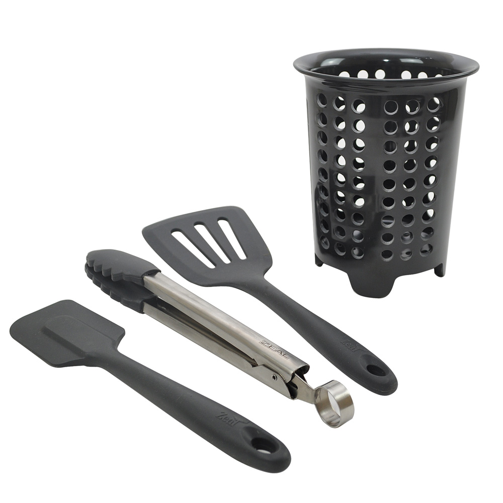 Slate Grey Silicone Cooking Set