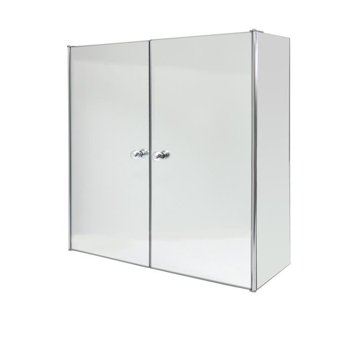 Stainless Steel Double Door Mirrored Cabinet