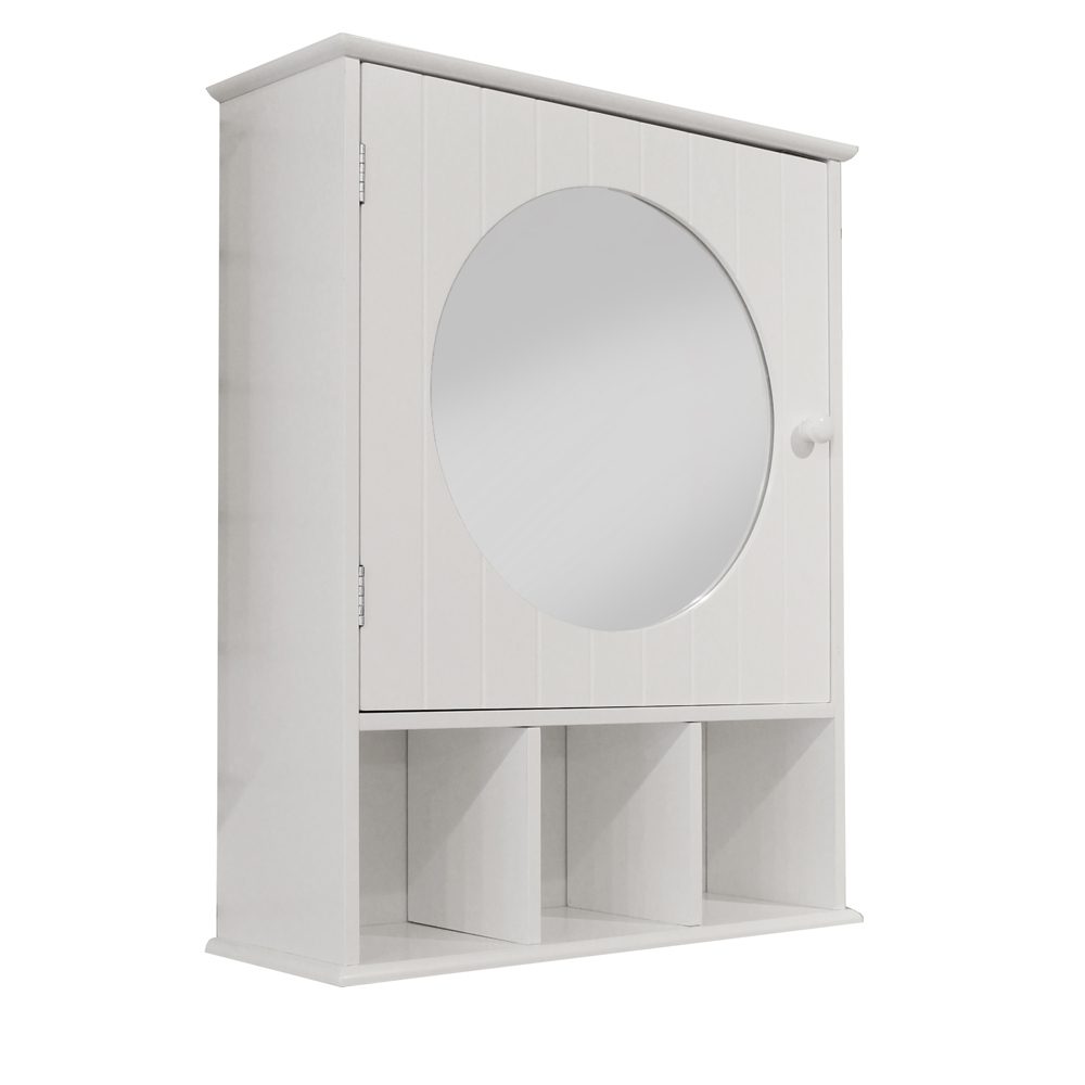 Stylish wall cabinets press releases roman at home roman at home for Round mirror bathroom cabinet