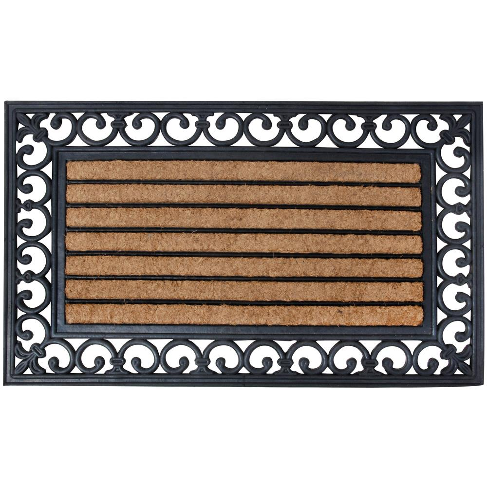 Traditional Plain Coir & Rubber Doormat