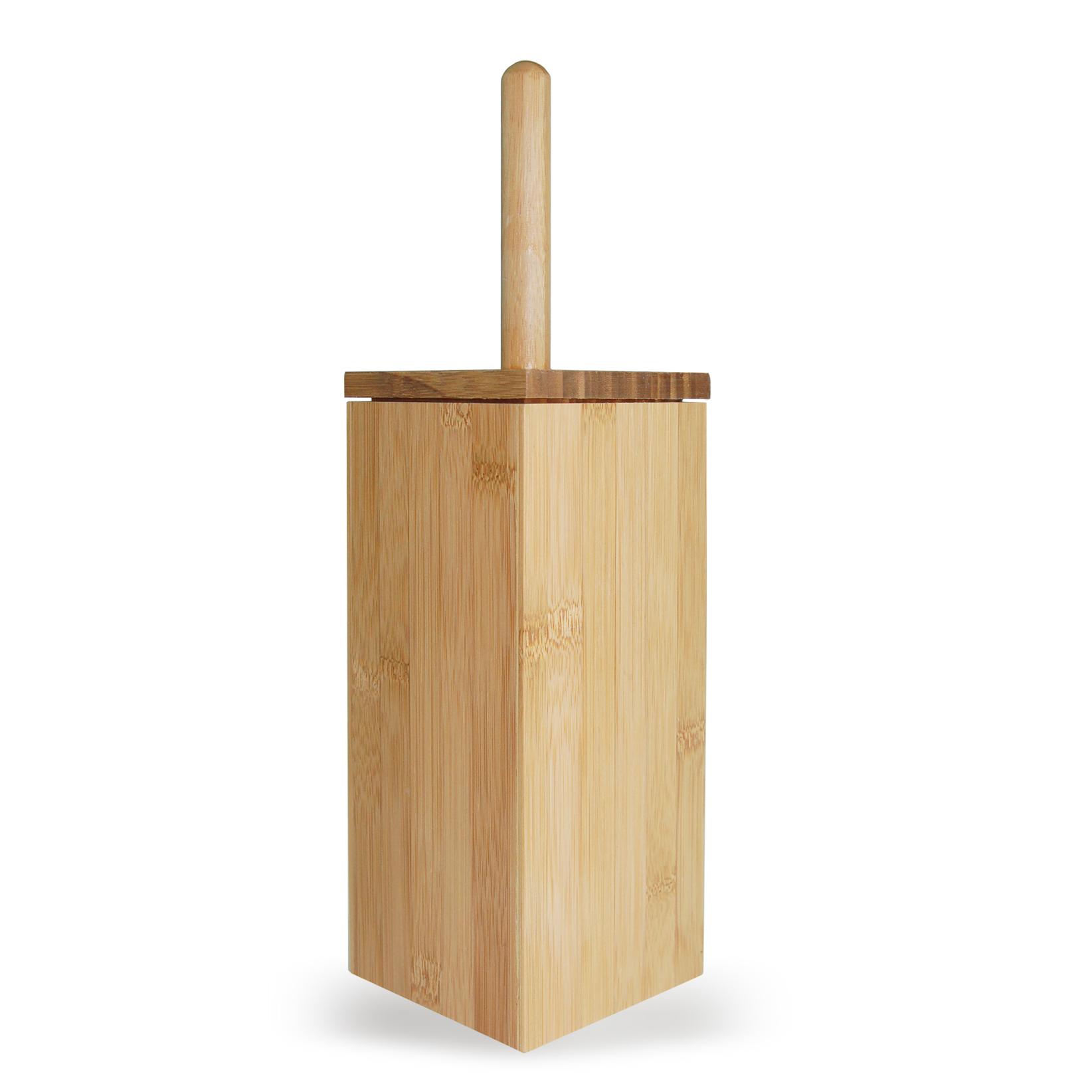Bamboo Toilet Brush Holder