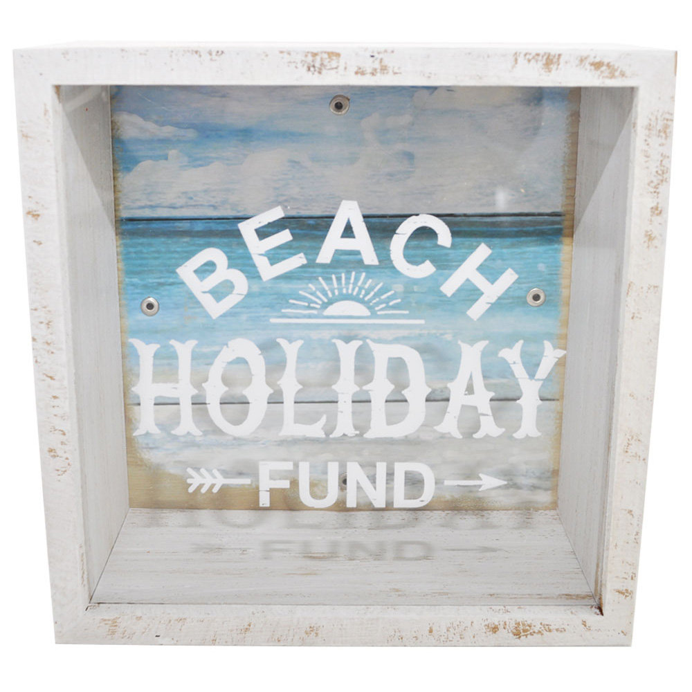 Beach Holiday Money Saving Box