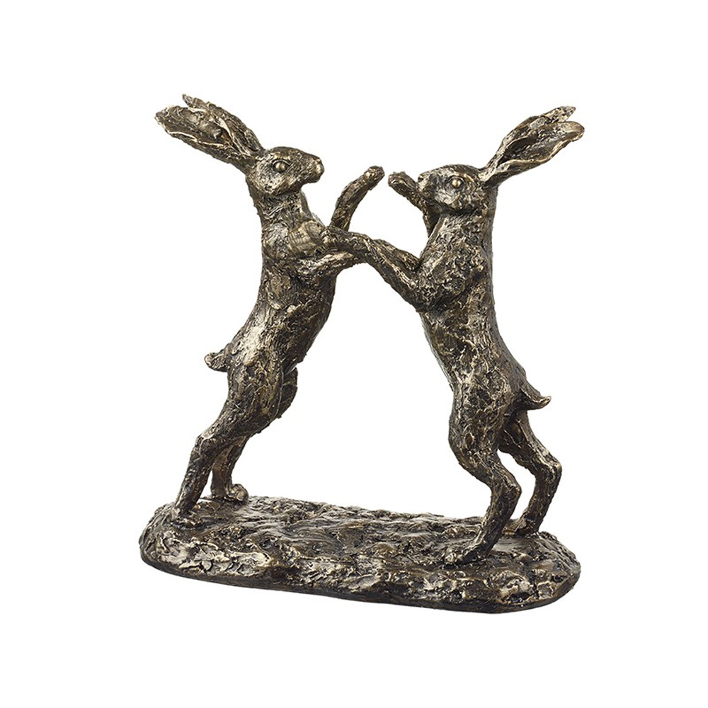 Boxing Hares Decorative Accessory