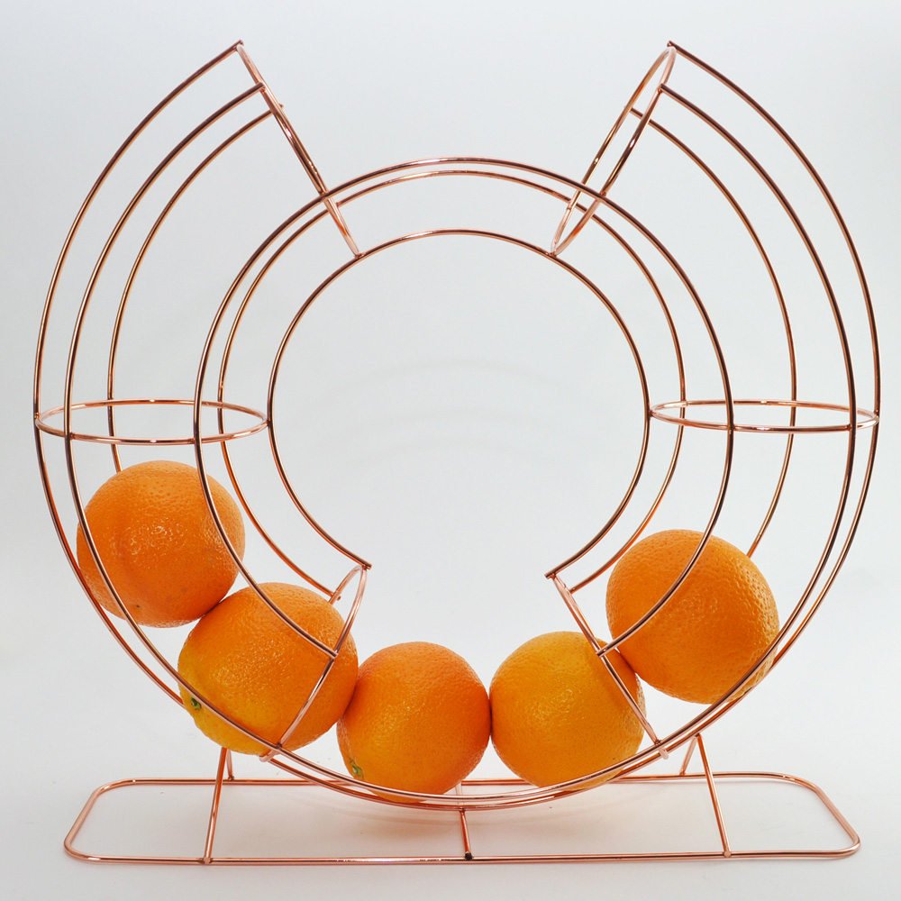 Circular Copper Fruit Dispenser Stand