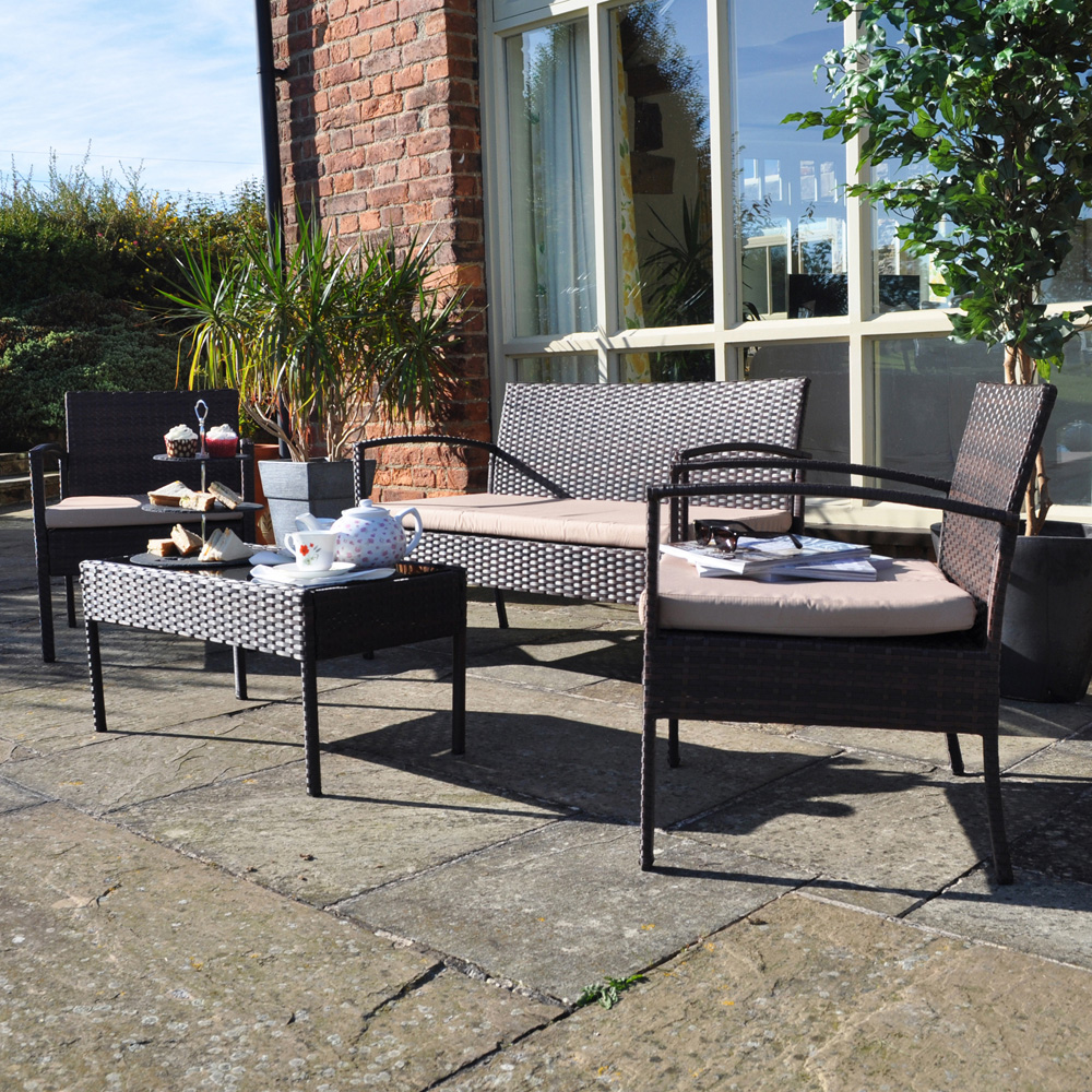 Contemporary Rattan Furniture 4 Seater Garden Patio Set Part 61