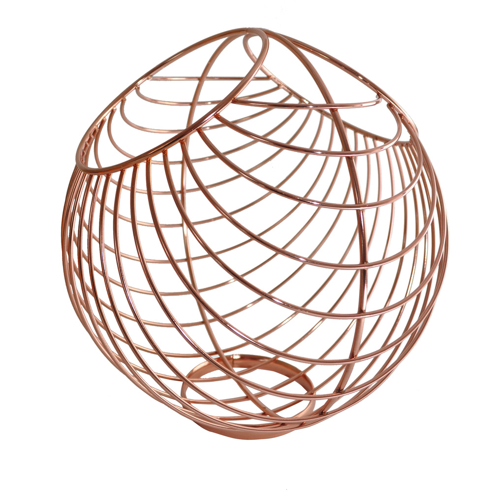 Copper Wire Fruit Bowl