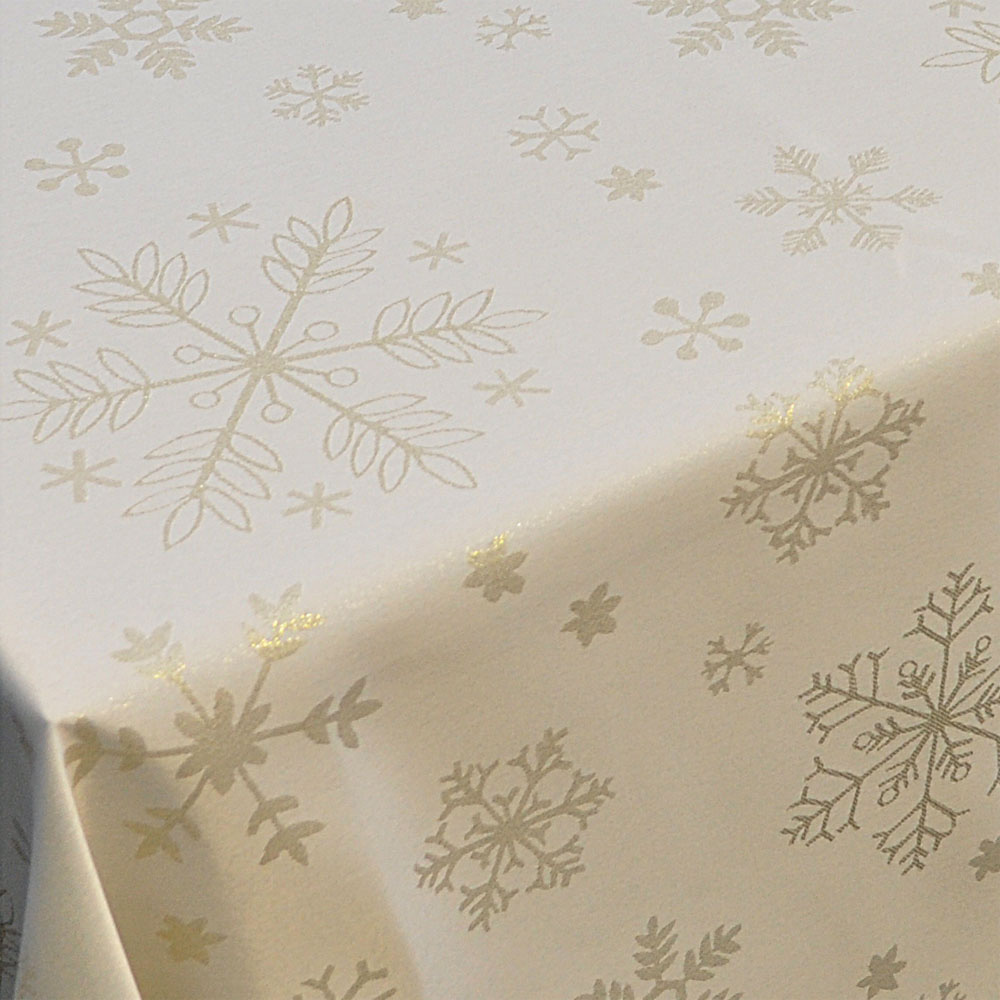 Gold Snowflake Tablecloth