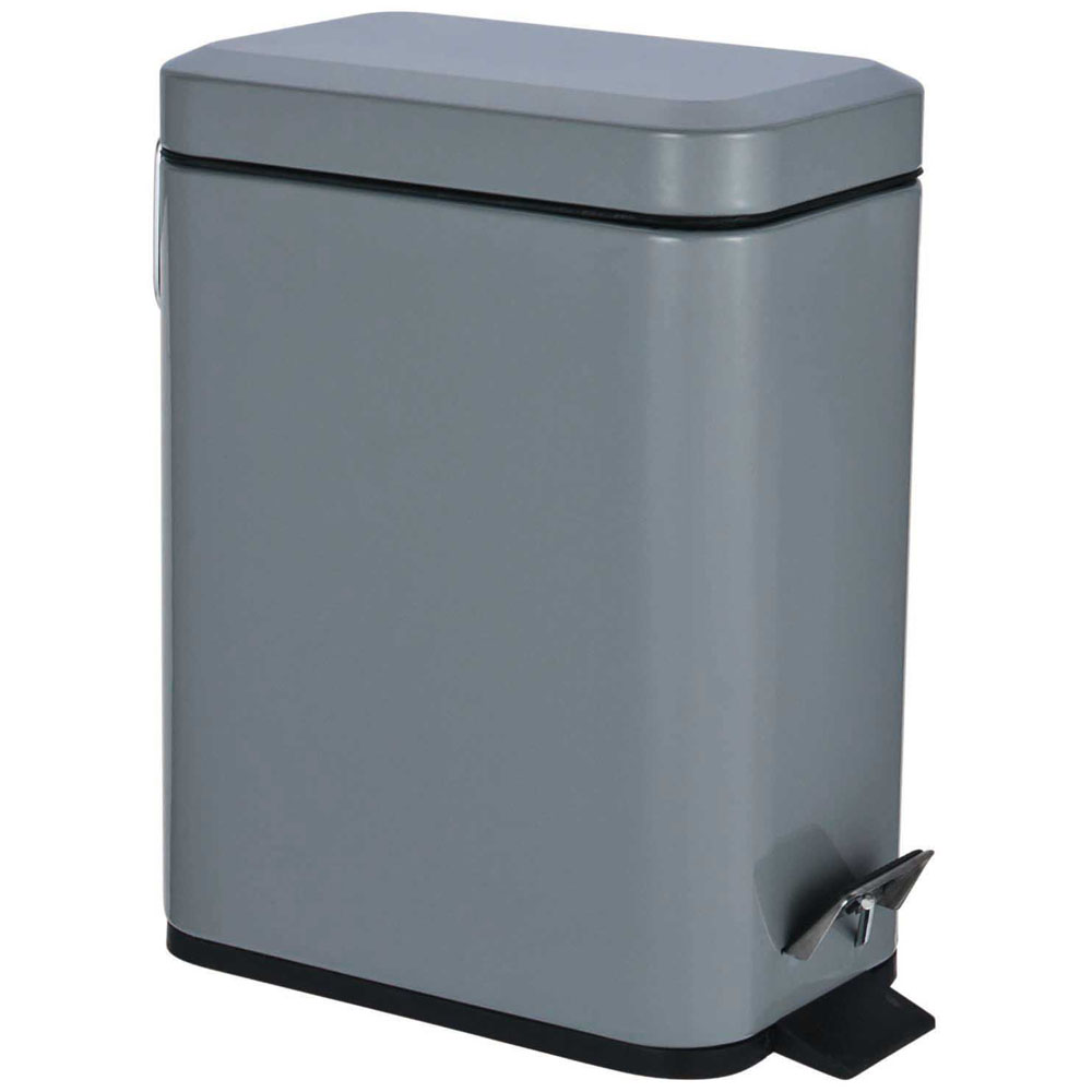 Grey Rectangle Pedal Bin