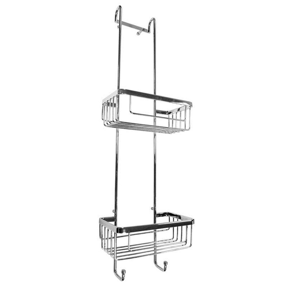 Roman Double Hanging Chrome Shower Basket