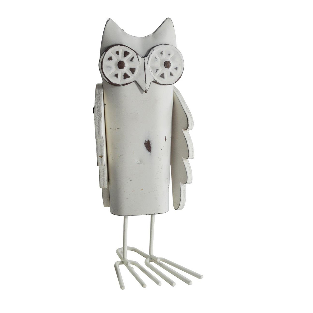 Shabby Chic Metal Owl Decoration