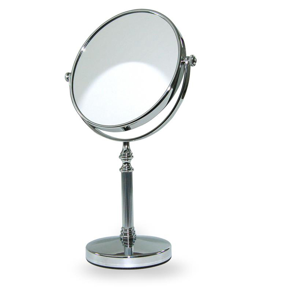 silver fluted round vanity mirror roman at home. Black Bedroom Furniture Sets. Home Design Ideas